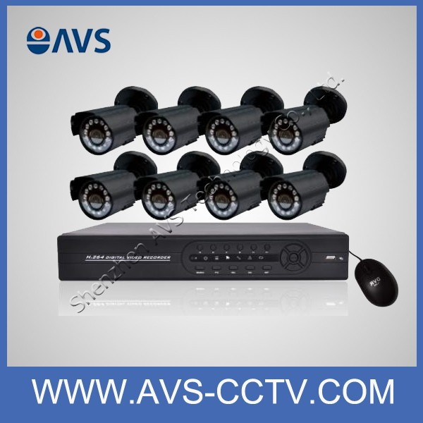 Wholesale price home surveillance system 8ch <strong>D1</strong> secuirty camera kits waterproof bullet cctv camera