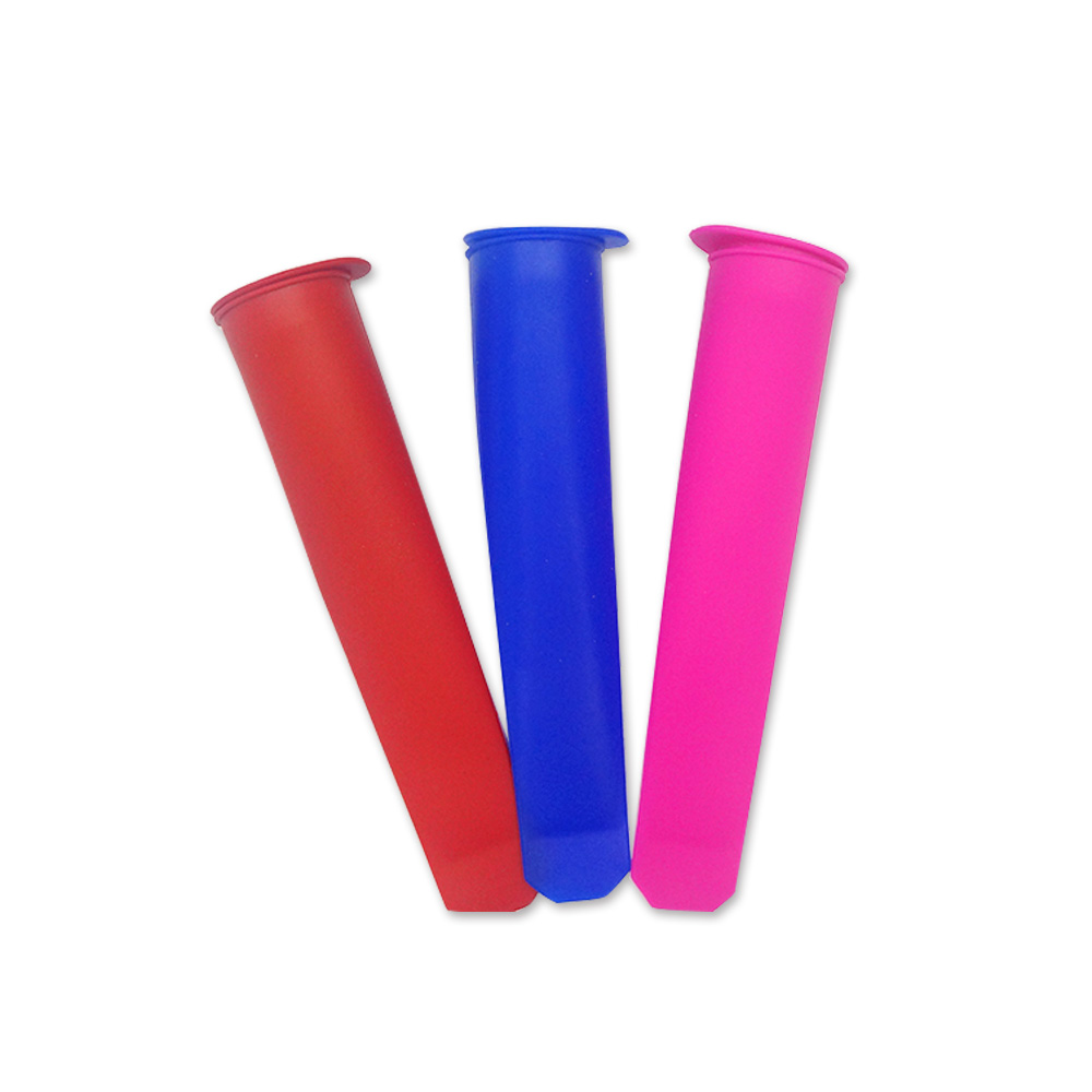 Custom Colorful Silicone Ice Cream Sticks with Lid