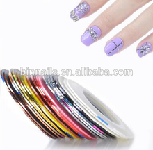 DIY nail art striping tape
