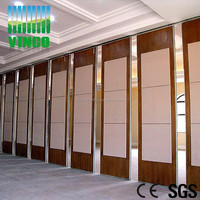 Acoustic movable Room divider with fabric coverd