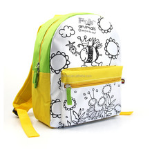Lovely style DIY colorful kids cartoon picture of school bag