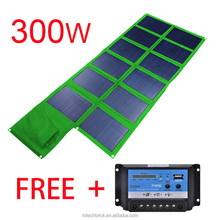 300 Watts Foldable Solar Panel Bag Portable Solar Charger Pack Kits for Smartphones and Tablets, Cameras,home system