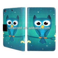 "Owl PU Stand Wallet Leather Case Cover For Apple Ipad MINI 7""tablet case"
