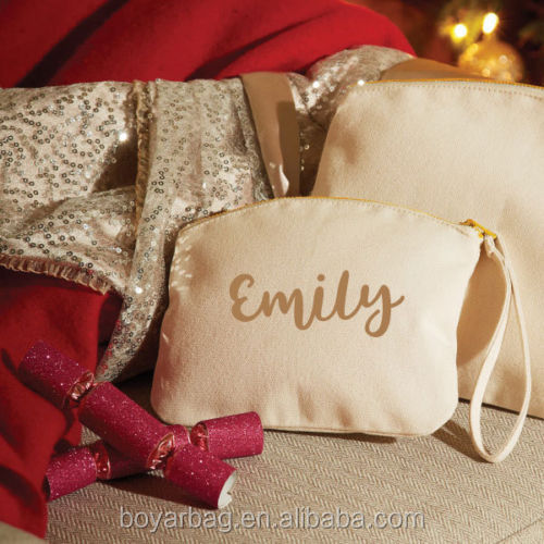 Personalised wristlet make up pouch toiletry wholesale cosmetic bags
