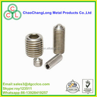 grade 12.9 Nickel plating cup point set screw