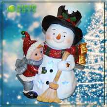LED lighted snowman Resin Christmas Lighted Snowman