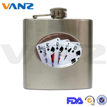 Customized painting fashion 8oz stainless steel hip flasks for men