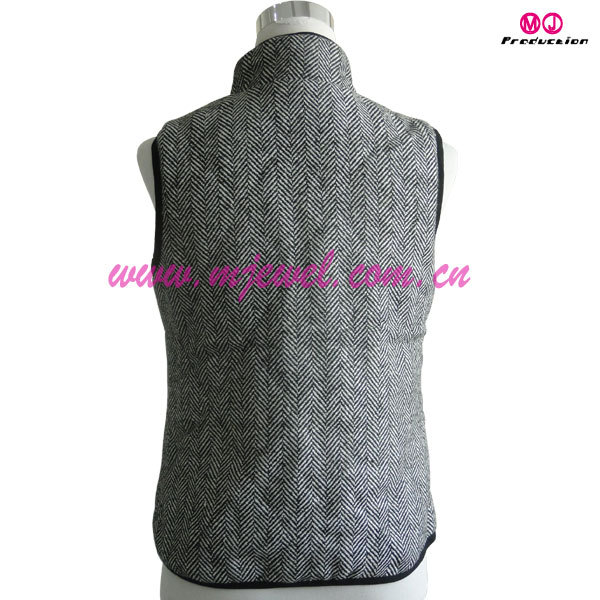 FACTORY wholesale monogrammed herringbone vest
