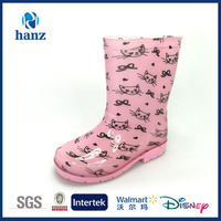 Comfortable and Cheap OEM Kids Footwear with Cat Print in Hangzhou