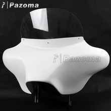 Pazoma High Quality ABS Detachable White Motorcycle Batwing Fairing Kits For Harley Davidson Road King 94 UP