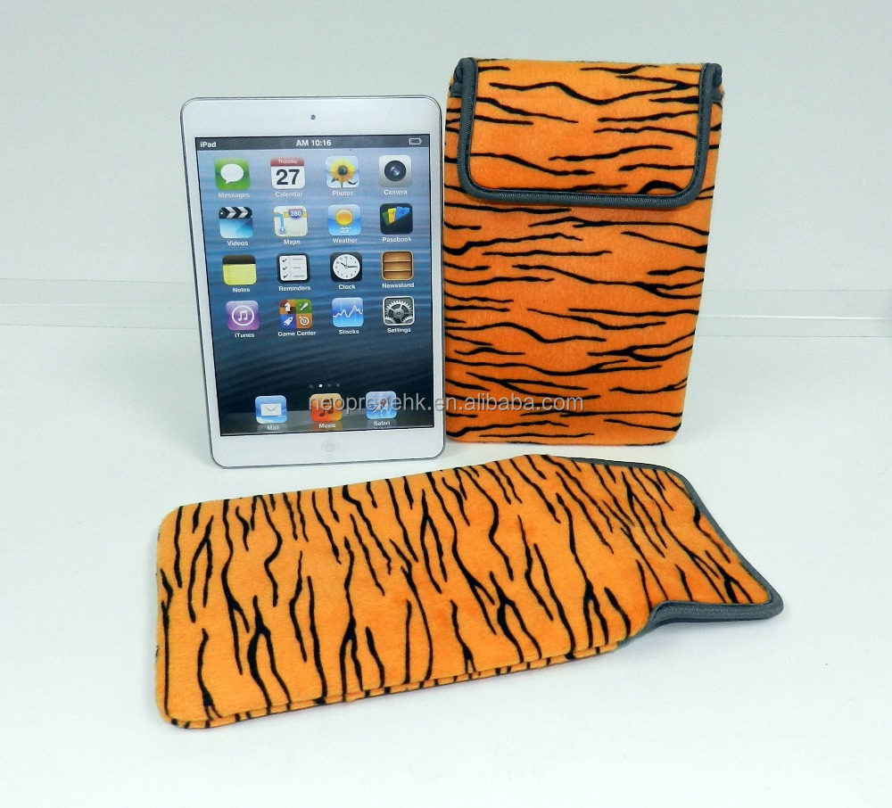 Special Animal prints for IPad Neoprene Tablet case Tablet cover