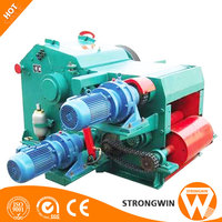 8 t/h sawdust log making machine drum wood chipper machine used widely