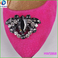 Flower clips Beautiful popular high end shoes accessories for women shoe