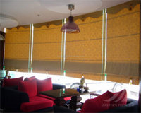 Roman shades woven blinds