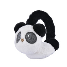 Wholesale High Quality Children Soft Plush Animal Ear Muffs Panda Shape Earmuffs / Cute Ear Muff