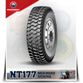 Mining 11R22.5 truck tyre,All position pattern,strong tyre body open shoulder