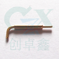 1.5mm single needle bended pogo pin battery connector