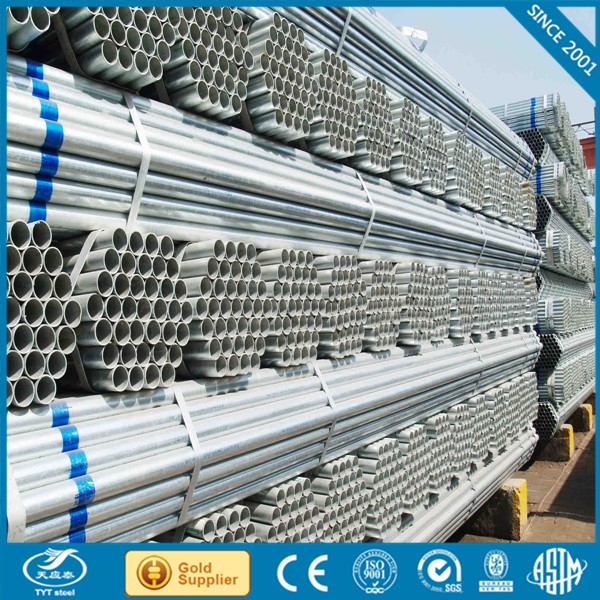 Galvanized steel pipe gi pipe seamless pipe sizes mm inch with high quality