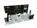 Detian Offer three sides open trade show booth 6x6 design for expo stand