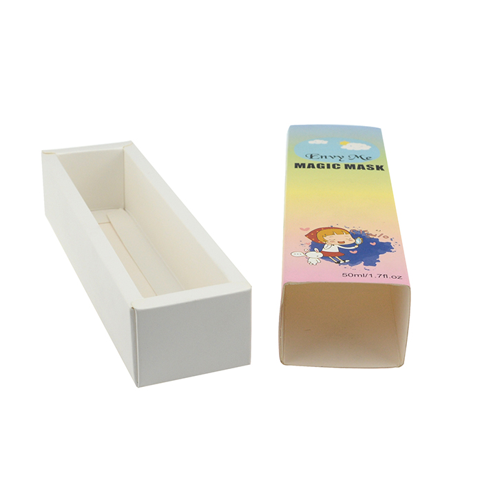 White cardboard paper drawer box custom slide packaging paper drawer gift box