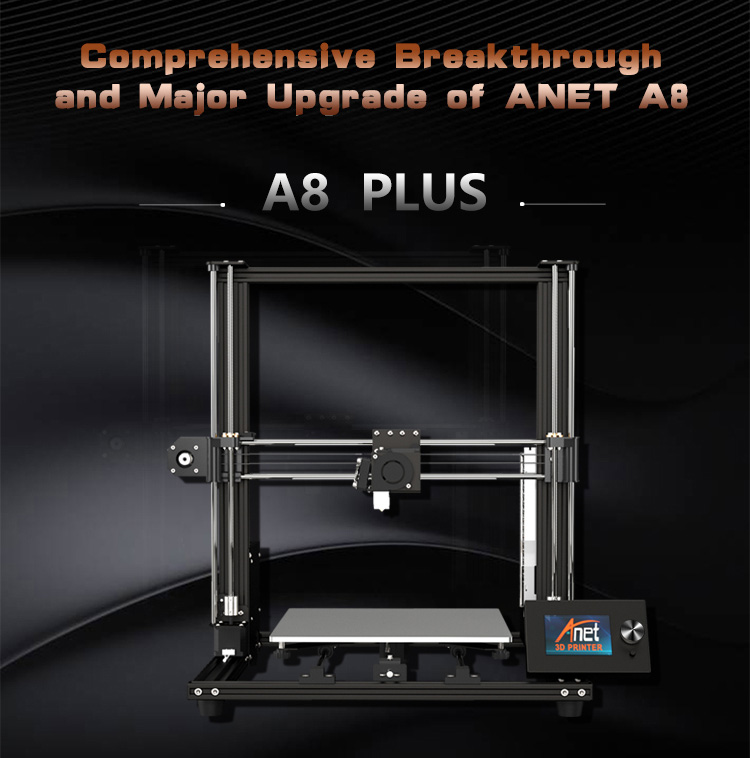 Up graded Desktop Anet A8 Plus 3D drukmachine Reprap Prusa i3 half DIY 3D Printer