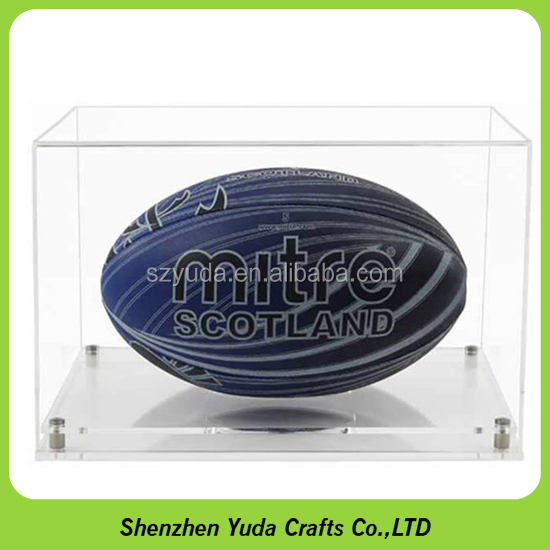 High UV Resist Acrylic Rugby Display Case Rugby Ball Holder