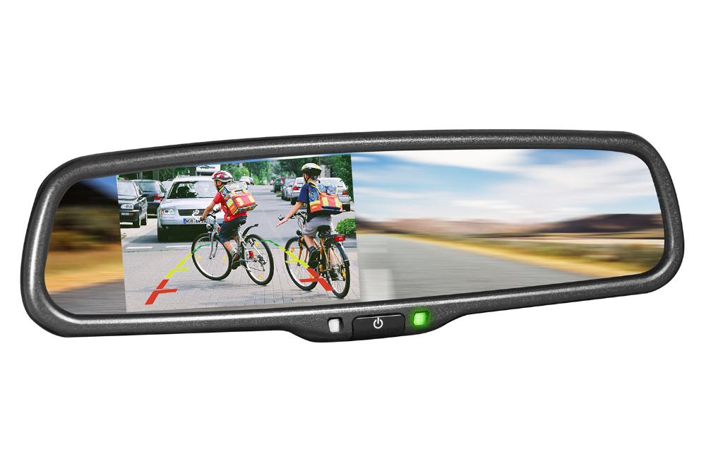 Best solution car rearview mirror monitor + hidden DVR recorder no need mobile phone control DVR car black box