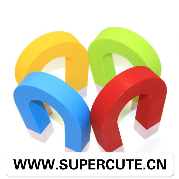 Creative fancy design ABS & Magnet <strong>u</strong>-shape yellow color key holder decoration wall