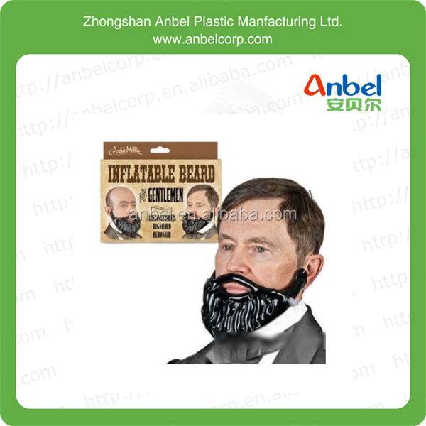 Anbel Cheap Hallow Toy Inflatable Novelty Blow Up Beard Dress Up Party Toy