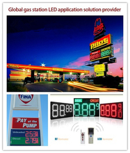 best selling programmable 8.888 digital LED gas price sign