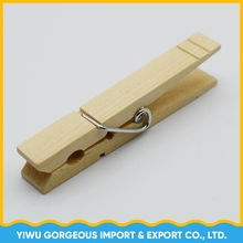 china supplier wholesale large 8.4mm birch wood Clothes Pegs,Wood clothespin hanging big wooden clothes clip strong spring hang