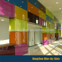 4mm back printed glass tempered toughened glass for wall