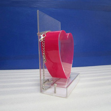 DDD-0215 Trade Assurance Heart Acrylic Donation Box With Lock and Chain Acrylic