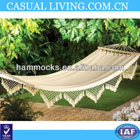New Make Canvas Hammock With Fringes For Camping