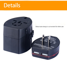 Luckiplus Convenient Travel Adapter Plug with Double USB