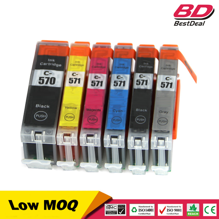 pgi-570 cli-571 compatible ink cartridge for printer canon pixma mg5750 mg6850