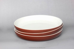 "Bright glaze color glazed porcelain 11""/12""plate and 10""bowl dinner set"