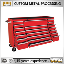"2016 metal professional 72"" tool chest with wooden top"