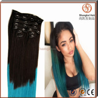 Cheap 26 Inch Sew In Human Hair Wave Colored Two Tone Ombre Clip In Hair Extensions