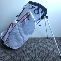 Freight Collect White Polyester Embroidery Custom Logo Golf Stand Bag Sample