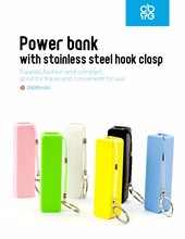 universal portable power bank/smart mobile power, Lipstick Promotional best quality power bank, portable cell phone charger