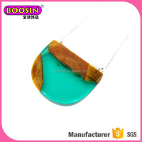 Colorful resin necklace, epoxy resin jewelry supplies