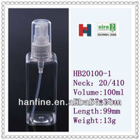 100ml High quality square/bath oil PET bottles for sale