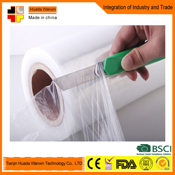 Factory manufacture PE cling food wrap film,food plastic wrap Food Grade Pe Cling Film lldpe Stretched Film