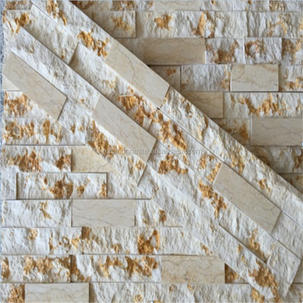 marble culture stone golden white ledge stone