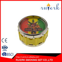Hot sale colorful shape tobacco herbal herb grinder, metal grinder Crasher and Smoking gadgets 856