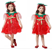 2016 fashion children wholesale halloween costumes red rose fairy thinkerbell dress party masquerade cosplay costume