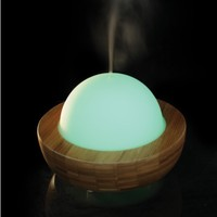 Hot Sale 150ml Glass Dome Bamboo Aromatherapy Ultrasonic Essential Oil Aroma Diffuser