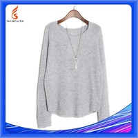 OEM Service, Autumn Plus Size 100% Angora Cashmere Women's Sweater