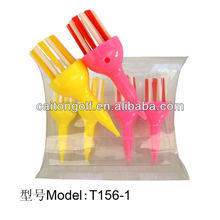 Manufacturer custom colorful plastic special golf brush tee , golf accessory T156-1